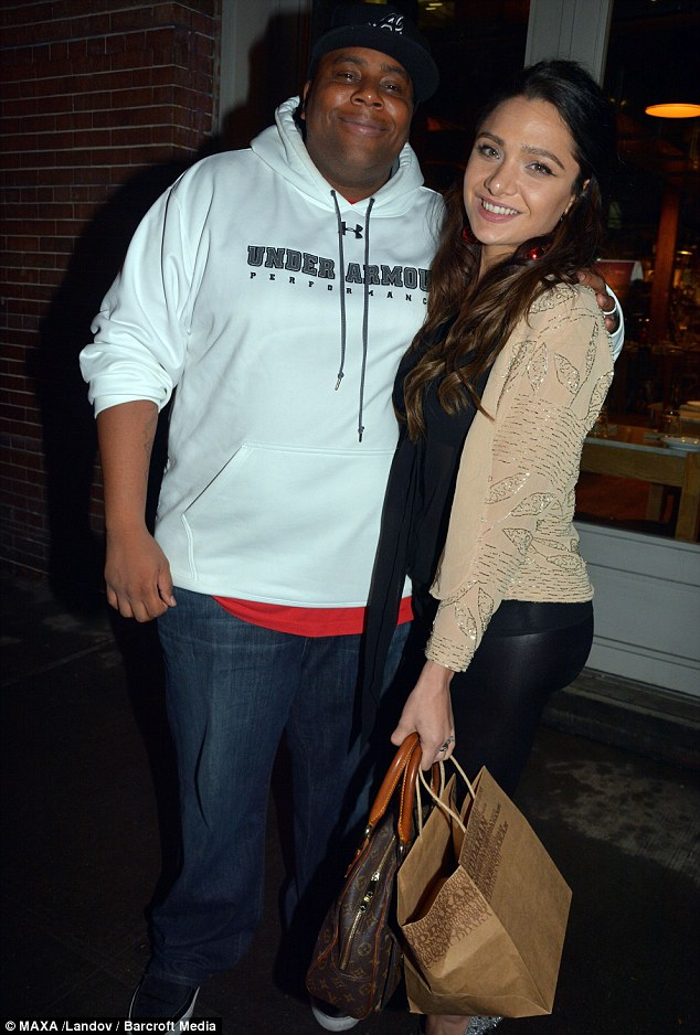 Overjoyed: Kenan Thompson and his model wife Christina Evangeline are expecting their first child