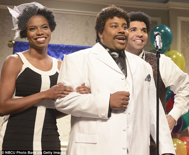 A long time coming: Kenan, seen here with Drake on SNL, has been trying for a child for a lengthy period