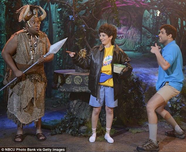 On the throne: Kenan has taken up the mantle of legendary SNL funny fat men John Belushi and Chris Farley