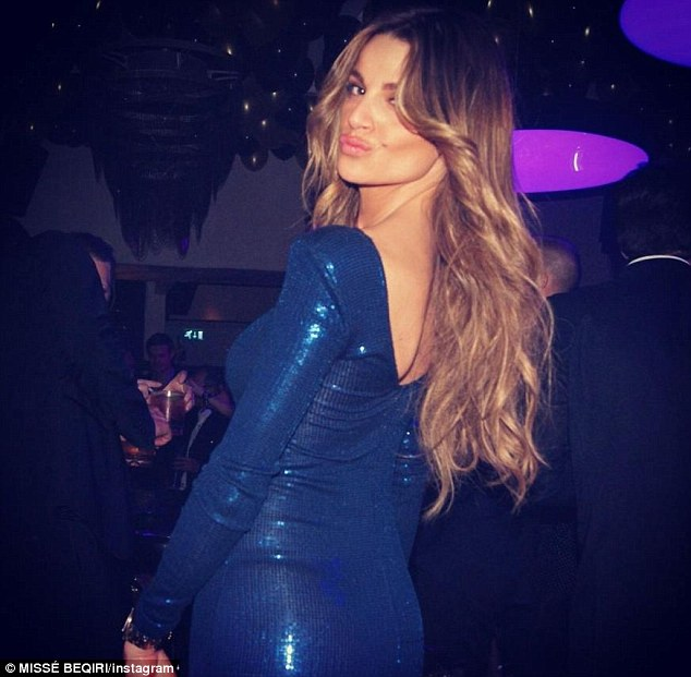 Model girlfriend: Misse Beqiri poses for a picture on a night out
