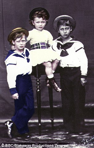 George V and Nicholas II (left and centre) first became friends as children