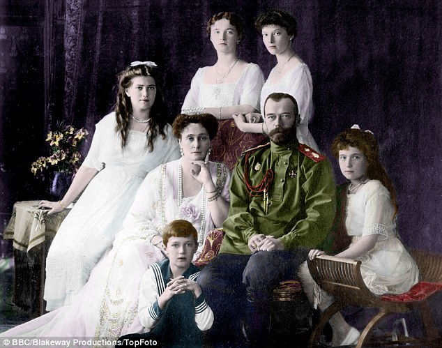 Family: Like George V, Nicholas II was devoted to his wife, a favourite grandchild of Queen Victoria