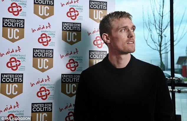 Sufferer: Manchester United man Fletcher's symptoms of ulcerative colitis became evident in 2010