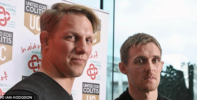 Far from ideal: Moody (left) had to move house closer to training when at Leicester Tigers because of his colitis