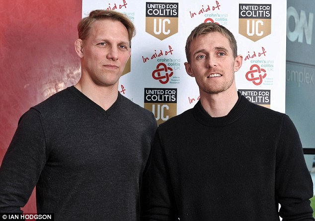 Harrowing: Moody (left) was diagnosed in 2005 and was told he'll be on drugs for the rest of his life