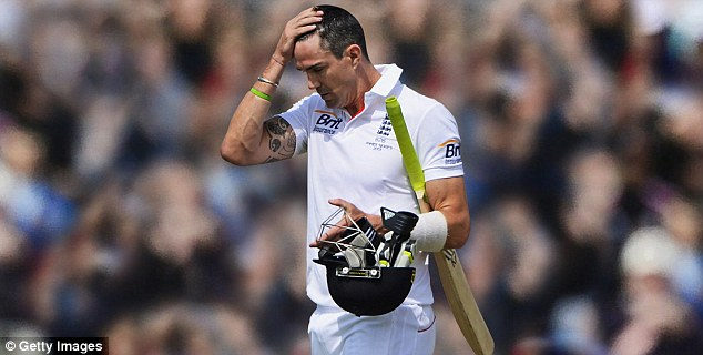 End of the road: Kevin Pietersen has been told his controversial England career is over