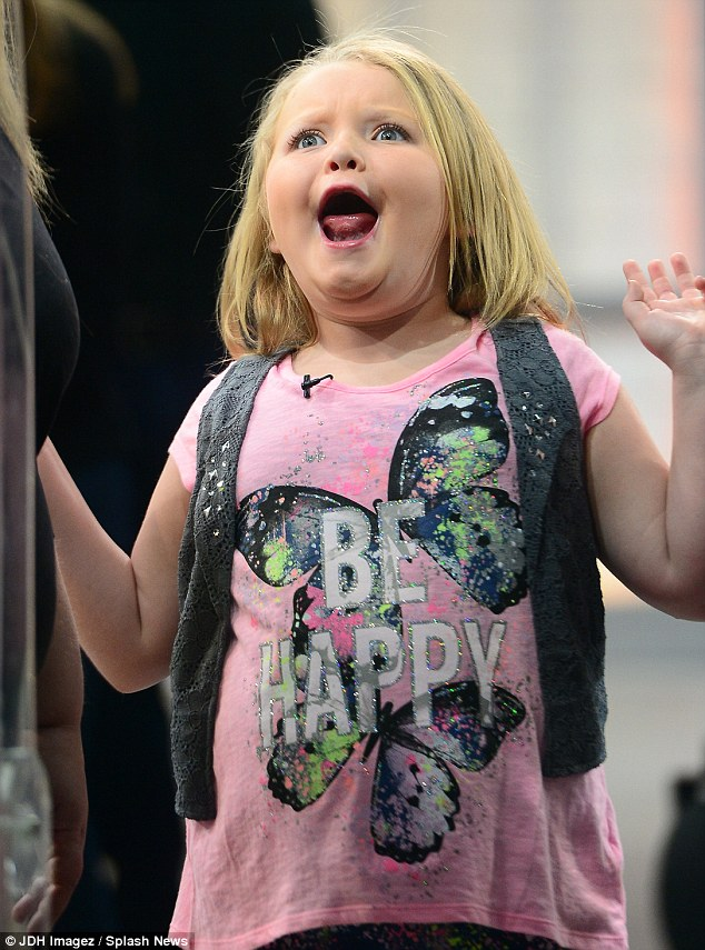 Be happy! Alana certainly echoed the statement on her T-shirt as she mucked around on Good Morning America