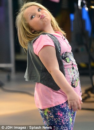 Not a morning person? Adorable Alana poses as she waits to go on set in New York