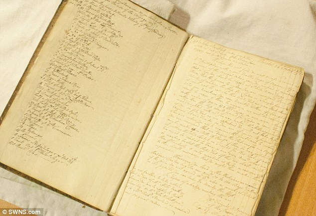 A wealthy slave merchant's 270-year-old notebook and business log (pictured) has revealed a chilling insight into the slave trade and attitudes to human trafficking