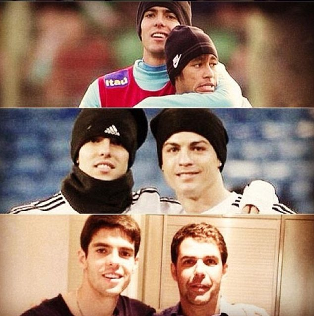 Picture this: Former Real Madrid and Brazil star Kaka tweeted birthday message to Neymar, Ronaldo and a showjumping friend