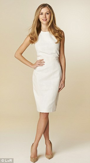 M&S: Per Una dress with leather panels, £199, marksandspencer.com