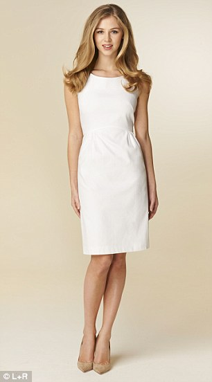 John Lewis: Collection white dress, £79, johnlewis.com