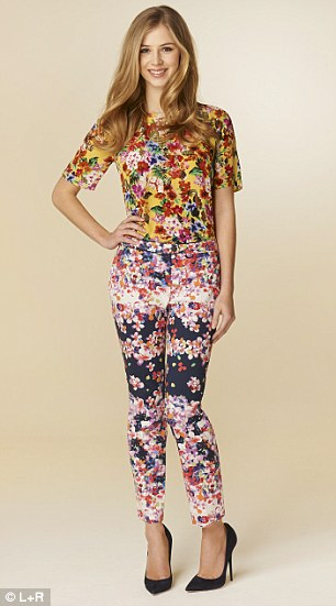 John Lewis: Floral print top, £49, and trousers, £59