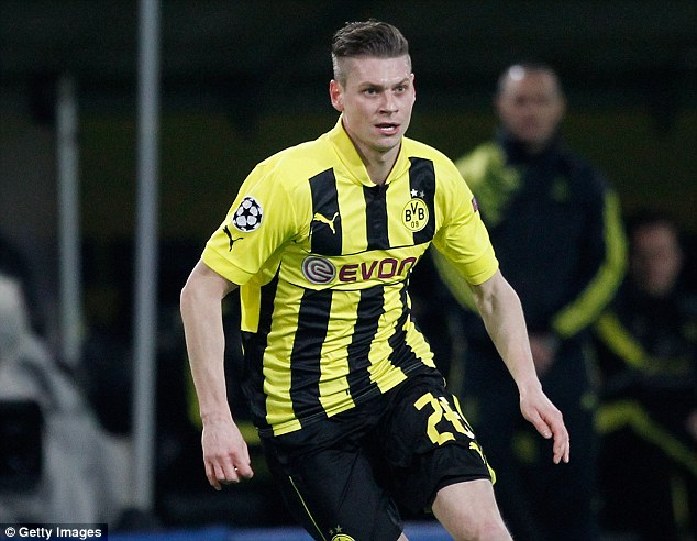 Nippy: Wenger is thought to be after a right-back, and Lukasz Piszczek of Dortmund could fit the bill