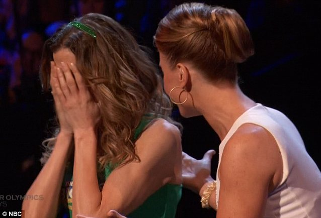 Overcome: Rachel couldn't contain her emotions as she was crowned the winner