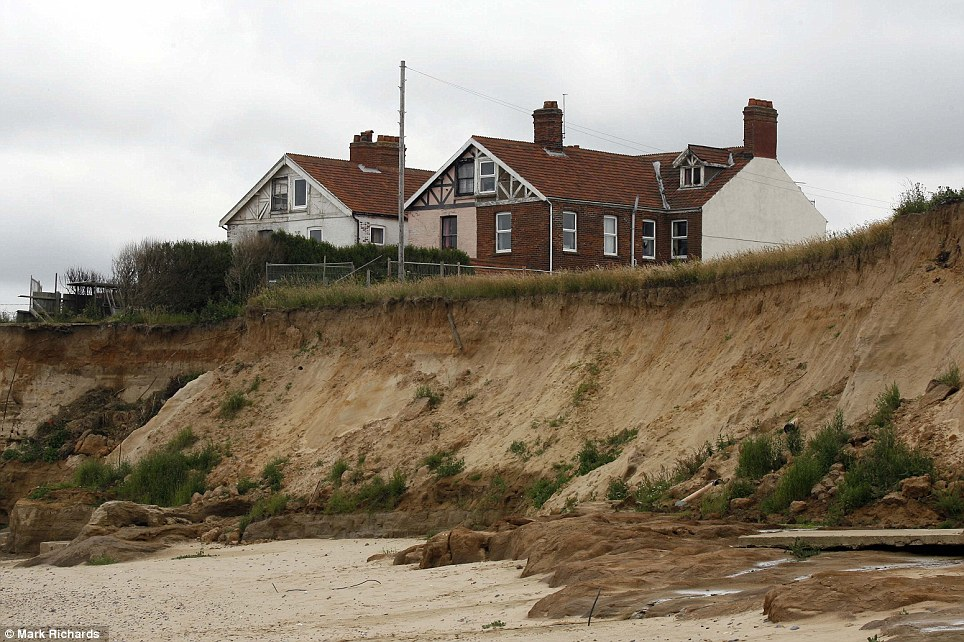 Heartbreaking place: The doomed village of Happisburgh on the Norfolk coast is all going under water and its houses are unsaleable
