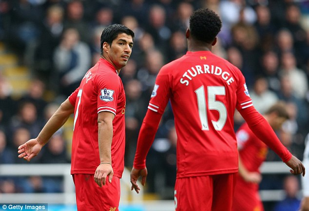 Strike force: Luis Suarez and Daniel Sturridge have been nothing short of deadly this season, firing 37 Premier League goals between them