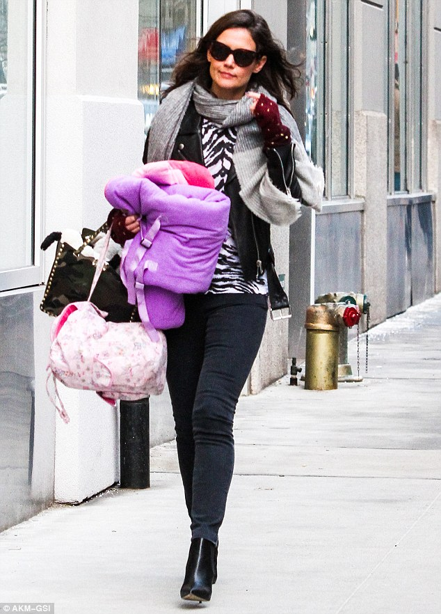 Lending a helping hand: Last Friday, the doting mom was spotted carrying a few of her daughter's belongings while out and about in New York City