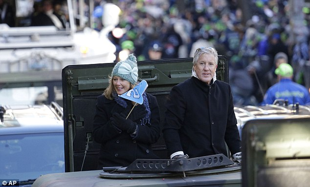 In charge: Pete Carroll has transformed the Seahawks fortunes after his appointment in 2010