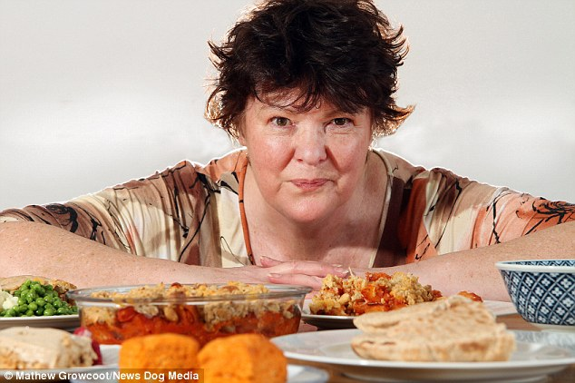 Bargain bites: Lesley Cooper, 62, claims she has more than 150 recipes which show you can feed yourself for less than 50p