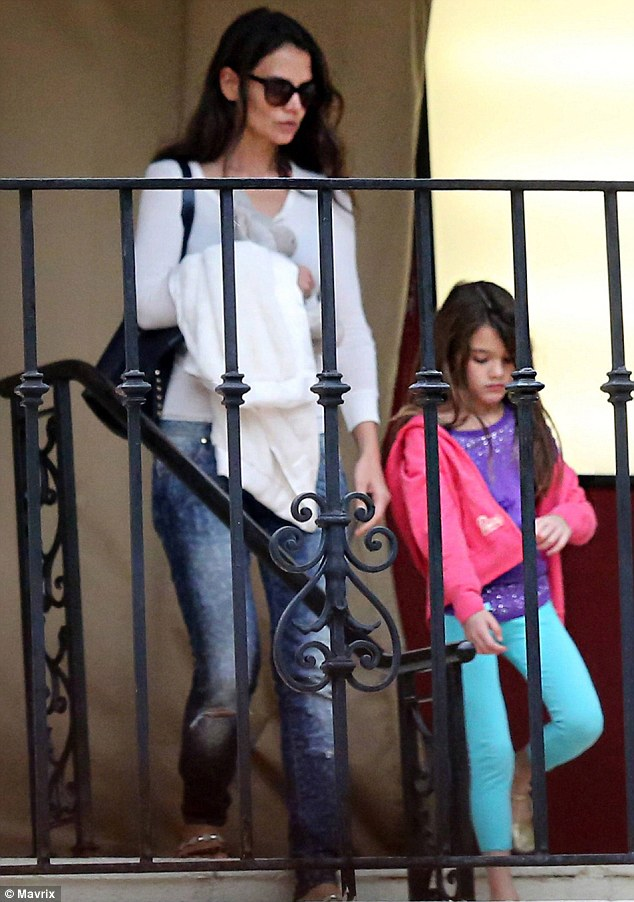 Mommy and me! Katie last seen with Suri on vacation in Miami, the first week of January