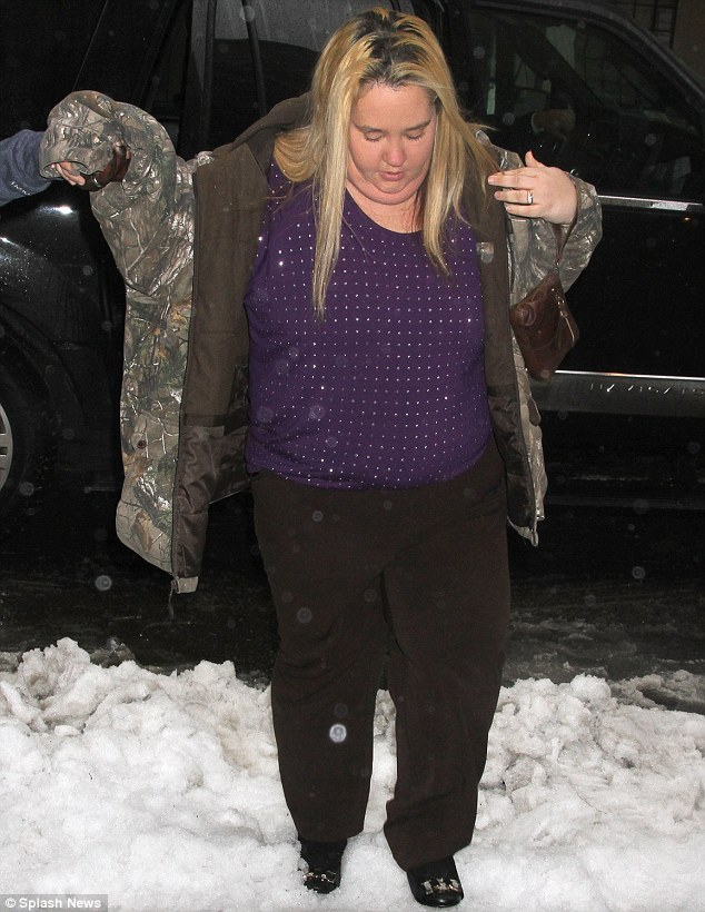 Not in Georgia: Alana made her way through the snow-filled streets of the Big Apple