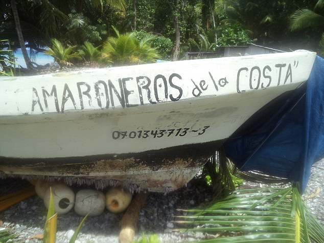 The boat of Pacific castaway Jose Salvador Alvarenga of El Salvador shortly after his January 30 arrival on the remote Ebon Atoll in the Marshall Islands