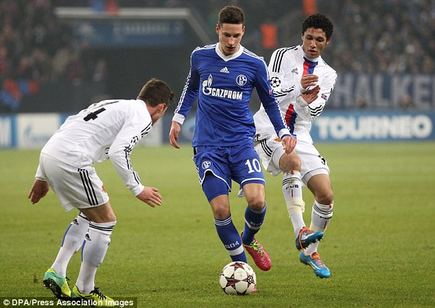 Missing out: Arsenal were linked with, but failed to sign, Schalke's Julian Draxler in January