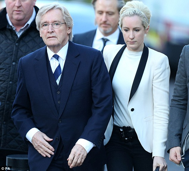 Rock: Verity Roache has been by her father's side throughout his trial