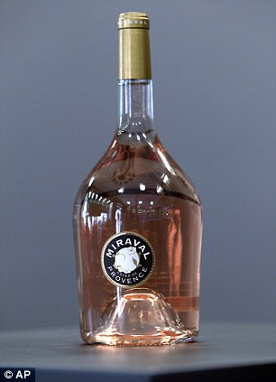 Praised: A bottle of Miraval 2013 will sell for 15 euros