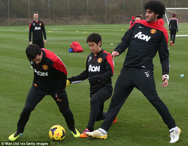 Struggle: The midfielder has failed to find the net for United since May