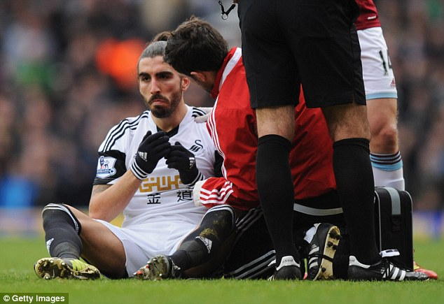 Treatment: Flores did require attention from the physio following the collision but played on