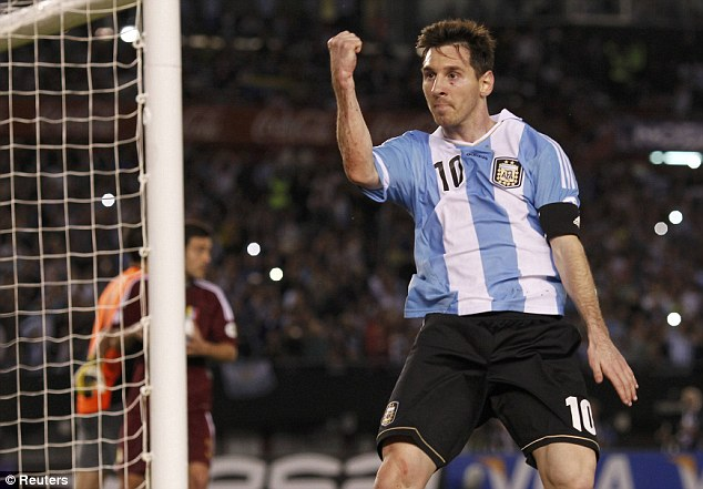 One bolt missing: If Messi's goal rate for Barcelona transcended to World Cup's he would have scored seven