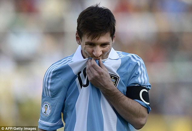 Responsibility: Messi has the weight on his shoulders as Argentina head into the World Cup in Brazil