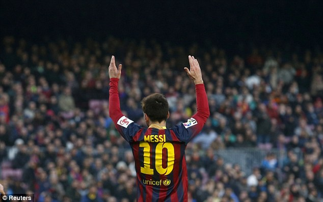 Hands up and be counted: Despite being arguably the best player in the world over the last five years, some still criticise Messi's form on the biggest stage of all... making this summer perhaps Messi's biggest ever