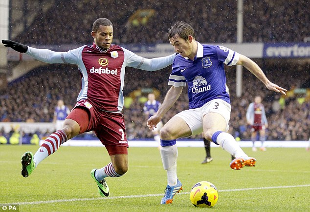 Exciting times: Leighton Baines (R) is ready for the challenge of getting Everton in Europe