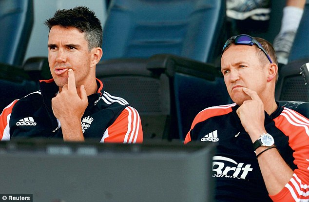 Counter-productive: Flintoff considered Andy Flower's (right) position as untenable after such a defeat