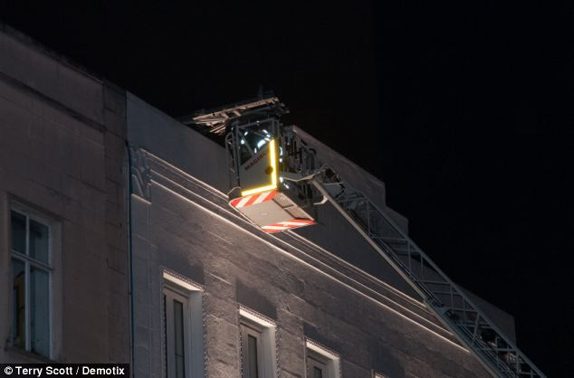The body believed to be that of Patrick Halpin was found in Leicester Square just as celebrities were leaving premiere of Cuban Fury. Investigators think Patrick may have fallen from this rooftop