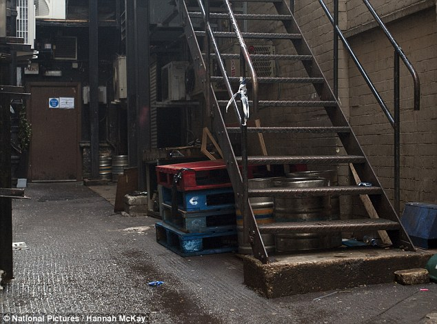 Discovery: The body was found in the alley near between Zoo Bar, where the 18-year-old was, and a Burger King