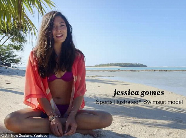 'I got to fly up front with the pilot': Australian Jessica Gomes was pleased with her mode of transport