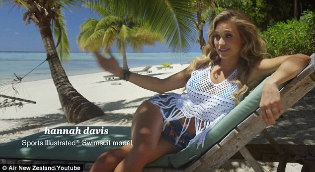 Paradise: The Sports Illustrated models showed how to be safe on a plane from a beautiful beach