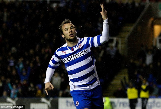 Hat-trick hero: Reading's Adam Le Fondre won the player award after scoring two trebles in January