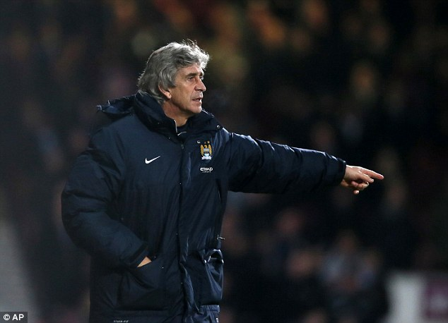 Perfect record: City won al four of their league matches in January and also advanced in the FA Cup and League Cup