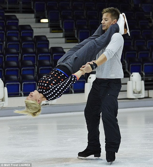 Spinning around: Suzanne Shaw and Matt Evers step up their tricks for this week's show