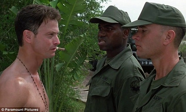 In action: Tom Hanks, Gary Sinise and Mykelti Williamson met each other in Vietnam in the iconic film
