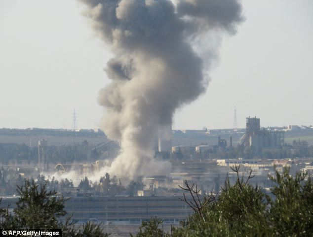 Horrific: Smoke rises from Aleppo's central prison