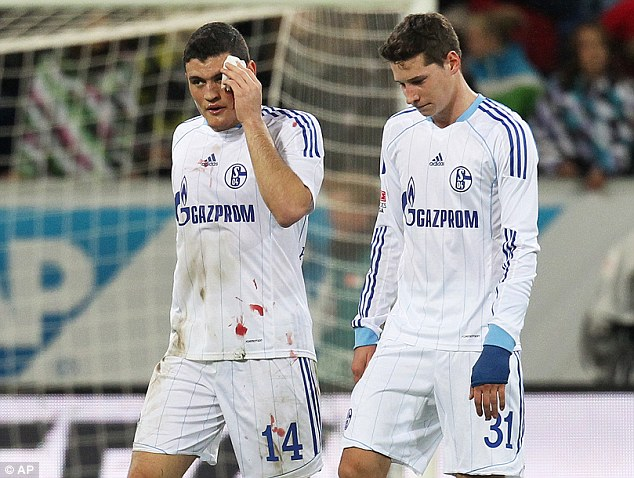 Warrior: Kyriakos Papadopoulos (left) is only 21 but already has experience, though he has a history of injuries