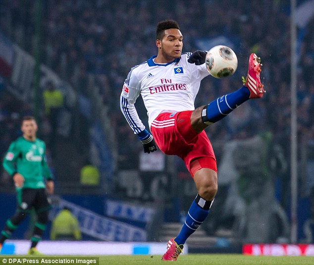 Potential: Jonathan Tah may be just 17, but Hamburg need money so a deal could take place