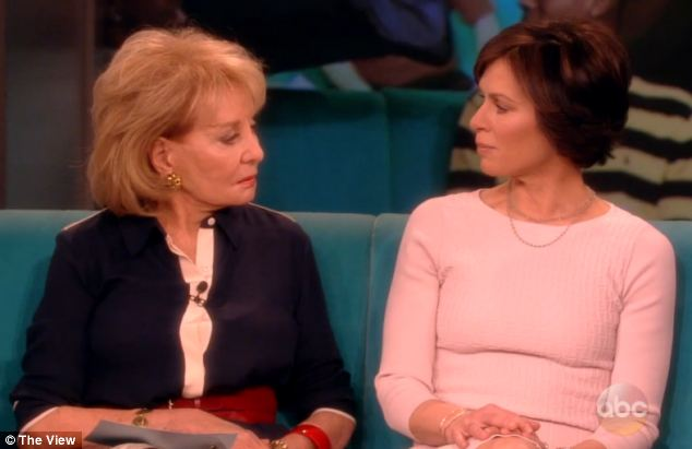 Shock: The set of The View fell silent when Barbara Walters, left, told Elizabeth Vargas, right, that 'we all knew' about her alcohol addiction before she publicly revealed it last month