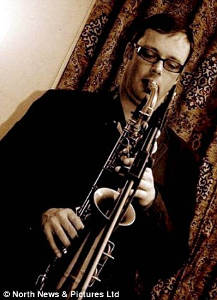 Mrs Arthur had begun an affair with saxophonist Paul Gowland, 44, pictured